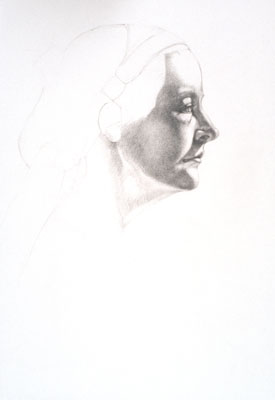 Mary, a drawing by artist Sandy Freckleton Gagon
