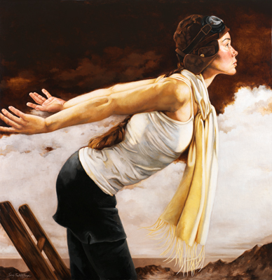 She Remembered She Could Fly, a painting by Sandy Freckleton Gagon