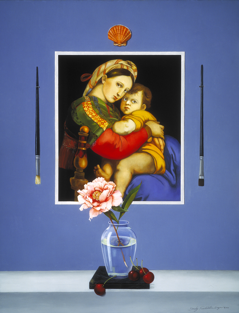 Still Life with Raphael, a painting by artist Sandy Freckleton Gagon